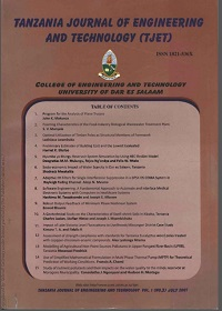 Tanzania Journal Of Engineering And Technology